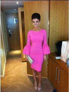 Lucy Mecklenburgh rocks our Pink Renee #pageantinterview #pageantdress #pinkdress