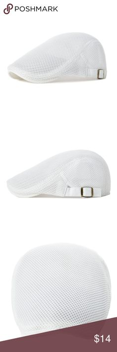 21c6dc6c Mesh Beret Hat Summer Ivy Cap Classic Flat Cap Newsboy Flat cap Cabbie Hat  Golf Ivy