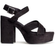 H&M chunky sandals Suede platform sandals from h&m I never wore these shoes at all so they are brand new! They have a chunky heel and fit true to size originally $40.00 H&M Shoes Sandals