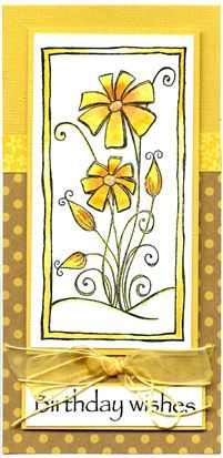 Woodware - Daisy Panel, distress markers, Doodlebug papers, Watercolour paper.