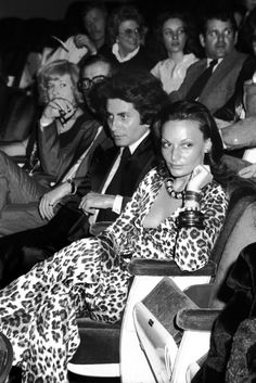 DVF | 1974: Diane at the screening of Andy Warhol's Flesh For Frankenstein in New York City