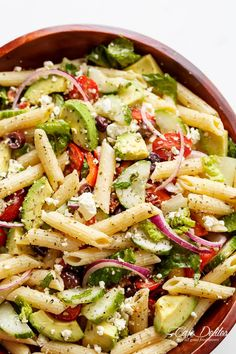 Lemon Herb Mediterranean Pasta Salad