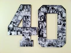 Custom Alphabet Collage Numbers for Any  Birthday. $79.80, via Etsy.