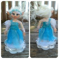 Sky  Fantasy Polymer Clay Elf Art Doll by SuperCooperCreations, $56.00