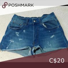 High waist Jean shorts Worn a few times Excellent condition Smoke and pet free home Harlow Shorts High Waist Jeans, Jean Shorts, Smoke, Times, Best Deals, Closet, Free, Things To Sell, Fashion