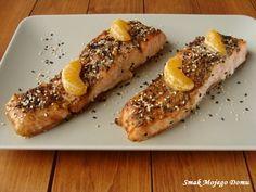 Smak Mojego Domu: Łosoś w sosie teriyaki, mandarynkach i sezamie