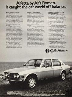 1976 Print Ad Alfa Romeo Alfetta Sedan Sports Automobile Ocean Shore ALFAR
