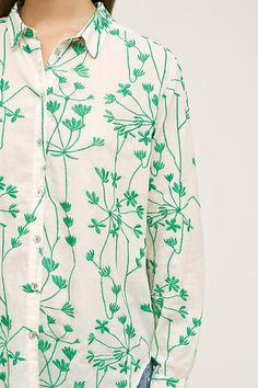 Embroidered Vines Buttondown