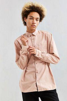 UO Fuzzy Flannel Button-Down Shirt