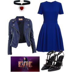 love the cut of that dress. Wouldn't wear it if it didn't come to the tops of my knees wen sitting. Evie Halloween Costume, Evie Costume, Disneybound Outfits, Disney Outfits, Disney Dress Up, Estilo Disney, Kids Costumes Girls, Queen Outfit, Disney Inspired Fashion
