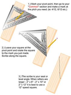 This a great tip for laying out roof rafters. It's pretty simple to use a framing square for finding your plumb and seat angles on the rafter. But, when you have to take measurements and transfer them