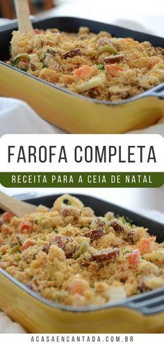 A receita da Farofa Deliciosa Other Recipes, Fried Rice, Carne, Barbecue, Potato Salad, Dessert Recipes, Food And Drink, Low Carb, Yummy Food
