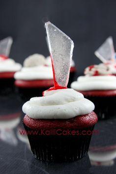 Halloween Cupcakes - Glass by Kalli Cakes, via Flickr