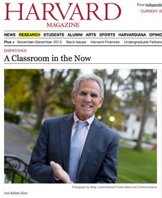 Jon Kabat-Zinn talks to Harvard about mindfulness in classrooms and making it part of every school curriculum. Mindfulness In Schools, Benefits Of Mindfulness, Mindfulness Quotes, Mindfulness Meditation, Jon Kabat Zinn, Positive Psychology, A Classroom, Psychiatry, Mindful Living