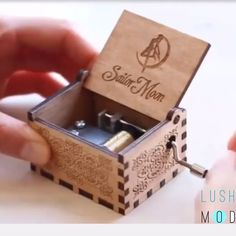 Sailor Moon Carved Music Box🌙 This handcrafted music box makes a great gift for Sailor Moon🌙 fans, anime fans or any music lover. Sailor Moon Wedding, Gifts For Sailors, Wooden Music Box, Music Video Song, Music Videos, Fan Anime, Kalimba, Any Music, Wedding Songs