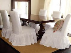 Custom slip covers made to order with your chair sizes | Dining ...