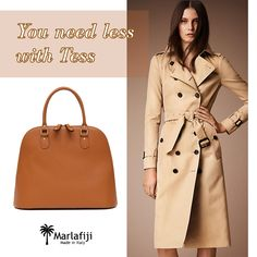 You need LESS with TESS...  Tess bag ON SALE NOW, hurry up ladies: http://marlafiji.com/en/new-arrivals/tess-honey-brown-large-italian-saffiano-leather-dome-bag-detail.html  www.marlafiji.com  FREE SHIPPING WITHIN AUSTRALIA  #marlafiji #tessbag