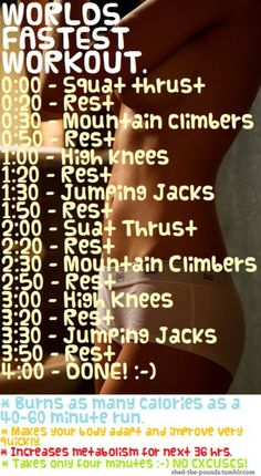 4 minute workout!