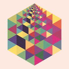Core #4 Print cube hexa by Simon C Page