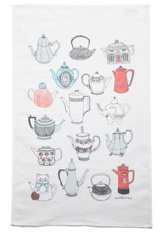 {while you were steeping} tea towel
