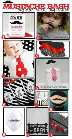 I like the idea of #10. We could take pics of the guests with the mustache and ties or hats or something to give to Devin as a guest book of sorts. Mustache themed party!