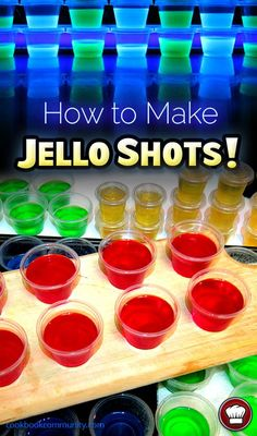 Learn the SECRETS of making GREAT JELLO SHOTS! This is the perfect technique for making the BEST possible Jello Shots. Learn the tricks here! Best Jello Shots, Making Jello Shots, Jello Pudding Shots, Alcohol Jello Shots, Party Drinks, Cocktail Drinks, Fun Drinks, Alcoholic Drinks, Fruity Drinks