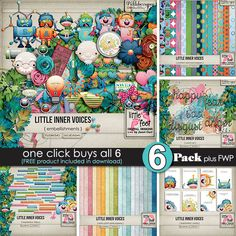 LITTLE INNER VOICES Pickle Barrel Collection by Little Feet Digital Designs @ Pickleberrypop https://www.pickleberrypop.com/shop/manufacturers.php?manufacturerid=170