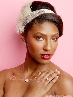 Rich berry toned makeup by www.bridesbysaj.com - bridal makeup for black/african american women