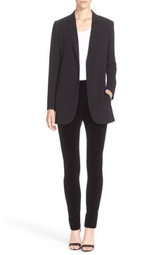 Theory Blazer, Blouse & Leggings available at Business Look, Theory, Nordstrom, Leggings, Blazer, Clothes For Women, Blouse, Sweaters, Jackets