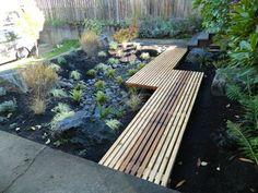 Composting Hacks walkway over rain garden Landscape Design, Garden Design, Landscape Arquitecture, Wood Walkway, Haus Am See, Rain Garden, Garden Bridge, Front Yard Landscaping, Landscaping Ideas