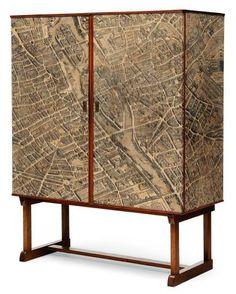 Josef Frank Map Cabinet