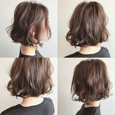 Japanese hairstyle design has always had its characteristics. So today we have collected 65 kinds of Japanese Messy short hairstyles idea. Let's look for amazing hair inspiration. Stacked Bob Hairstyles, Bob Hairstyles For Fine Hair, Curled Hairstyles, Hairstyles Haircuts, Bob Perm, Messy Short Hair, Shot Hair Styles, Lob Haircut, Mi Long