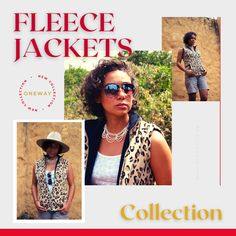 Leopard Print Sleeveless Jacket Fleece Jackets, Sleeveless Jacket, Men's Collection, Fashion Ideas, Lady, Style, Wool Coats, Sleeveless Coat, Swag