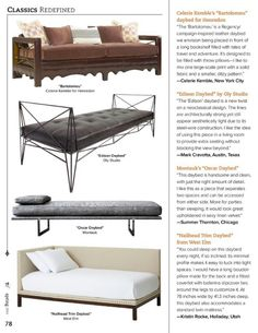 Stylish Slumber: Classics Redefined - Daybeds - Slide 2 of 2 - Traditional Home Magazine - Spring 2014, pg 78