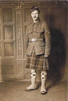 Lance Corporal Seaforth Highlanders. Taken at Aldershot before departure for France WWI.