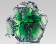 Zoned Green  Purple Fluorite / Mineral Friends <3