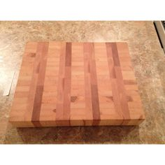 Large Heavy Duty End Grain Cutting Board, Solid Hardwood Ash, Maple,... ($74) ❤ liked on Polyvore featuring home, kitchen & dining, kitchen gadgets & tools, red oak cutting board, butchers block chopping board, maple cutting board, maple butcher block and maple wood cutting board