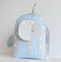 bySASH / RUKSAK sloník šedo - svetlo modrý, 1,5 r.