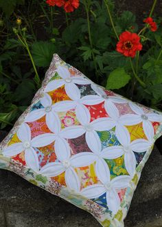 Quilted pillow.