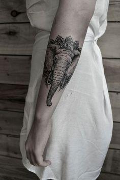 elephant sleeve tattoo for women - 100 Amazing Elephant tattoos