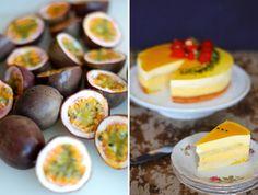 Passionsfrugtkage med hvid chokolademousse