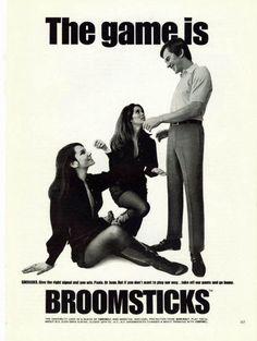 """1968 Broomsticks Pants Ad """"SHERADES"""""""