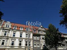 Schöne alte Wohnhäuser mit Stuck und Jugendstil in der Hansaallee in Münster in Westfalen im Münsterland