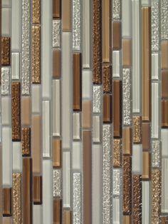 1 sf brown iridescent glass mosaic tile backsplash kitchen wall