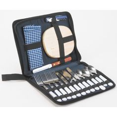 Neat compact carry bag containing all the utensils needed for a four person picnic.  www.capeunionmart.co.za