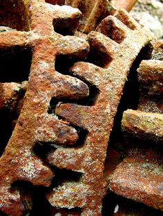 Rusty Cogs - Together for Eternity Rusted Metal, Metal Art, Macro Photography, Creative Photography, Rust Never Sleeps, Growth And Decay, Rust In Peace, Little Acorns, Industrial Architecture