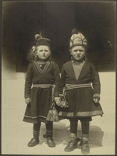 Ellis Island.  Children from Lapland