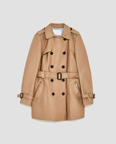 Image 8 of SHORT TRENCH COAT from Zara