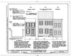 HABS MD,2-ANNA,68- (sheet 1 of 1) - 30-32 Cornhill Street, 30-32 Cornhill Street, Annapolis, Anne Arundel County, MD