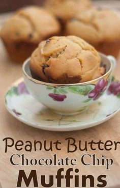 Peanut Butter Chocolate Chip Muffin Recipe is an easy breakfast muffin recipe full of protein, flavor and delicious chocolate chips. Quick and easy muffin recipe.